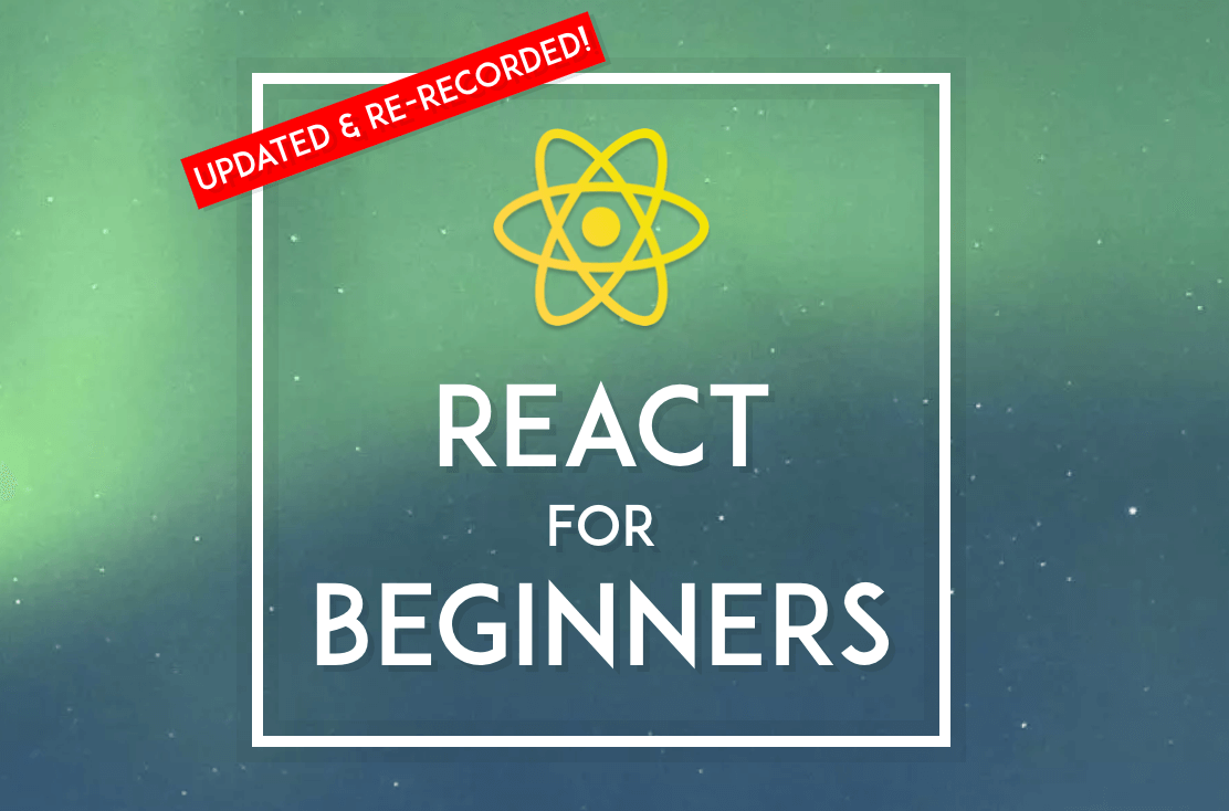 React for Beginners banner.